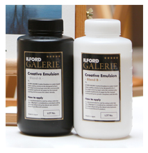 Pack d'essai ILFORD Creative Emulsion<br>Solution liquide de couchage jet d'encre
