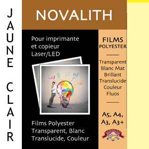 Polyester Indechirable Laser Mat Jaune Pastel 130µ<br>Format : A3 (100 feuilles)