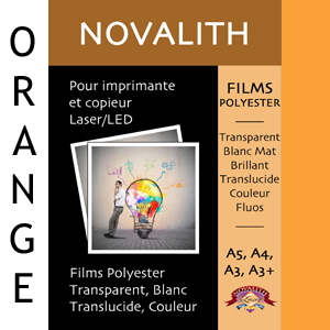 Polyester Indechirable Laser Mat Orange Pastel 130µ<br>Format : A3 (100 feuilles)