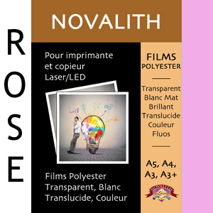 Polyester Indechirable Laser Mat Rose Pastel 130µ<br>Format : A3 (100 feuilles)