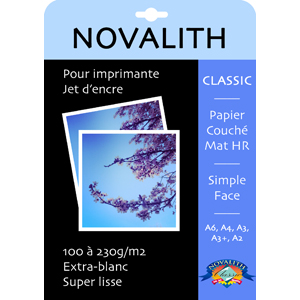 Classic 100 Mat, inkjet coated HR paper 100gsm<br>Format : A3 (200 sheets)