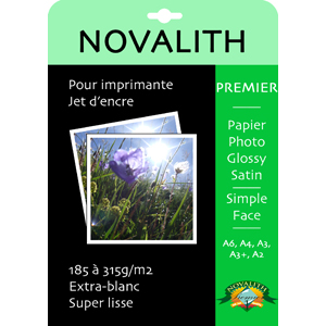 Premier 215 Ultra Brillant, papier photo RC glossy 215g/m2<br>Format : A4 (50 feuilles)