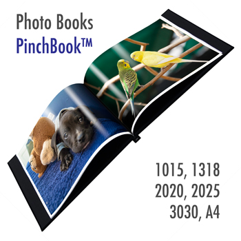 PinchBook- Photo Book Cover (Black leather like)<br>Size : A4 portrait without window